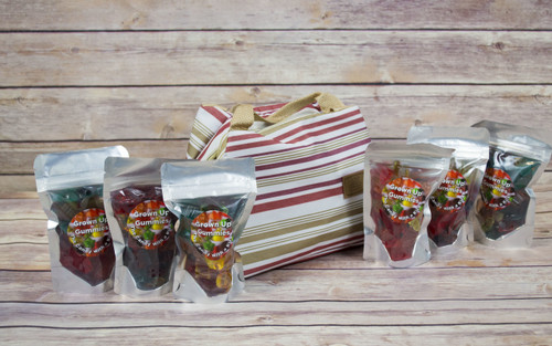 FREE SHIPPING! Gummie 6 pack of signature creation made with Sauvignon Blanc wine! Includes reusable insulated cooler