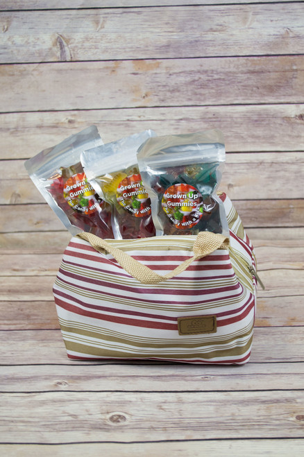 FREE SHIPPING! Wine Gummie 3 pack made with Sauvignon Blanc wine! Includes reusable insulated cooler