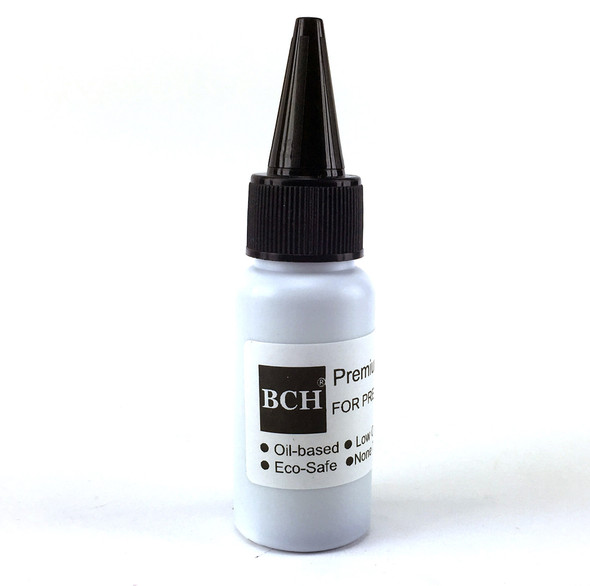 Premium Black Oil-Based Refill Ink for Pre-Inked Stamps