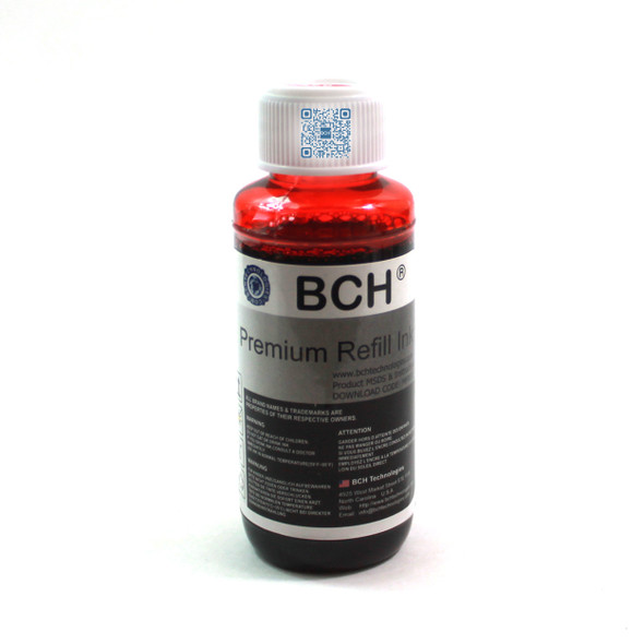Premium Dye Ink - 100 ml Red for Canon Pro 9000 Mark II CLI-8 (ID100RED-AC)