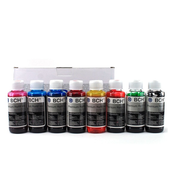 Premium Dye Ink - 100 ml x 8 Eight-Color for Canon Pixma Pro 9000 Mark II (KD800X-A-CAN)