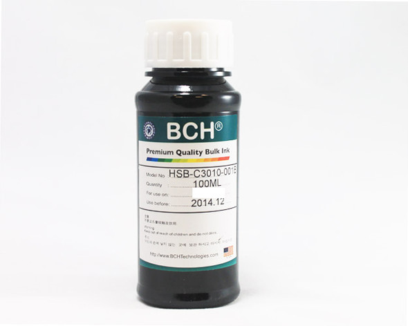 Premium Dye Ink - 100 ml Photo Black Ink for HP (ID100K-AH)