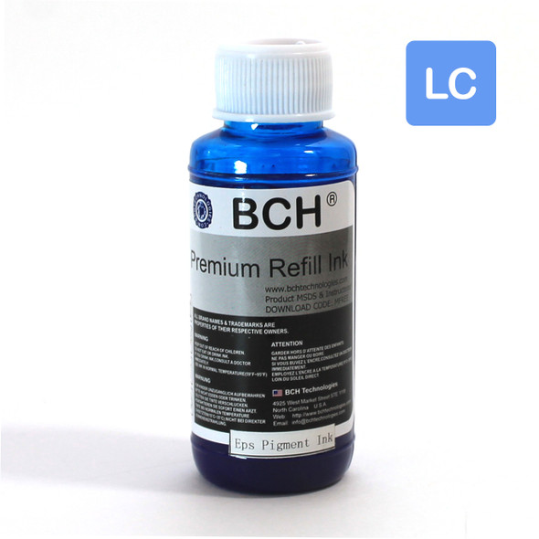 Pigment 100 ml  Light Cyan Refill Ink for Epson - DURABrite Compatible (IP100-8-AE)