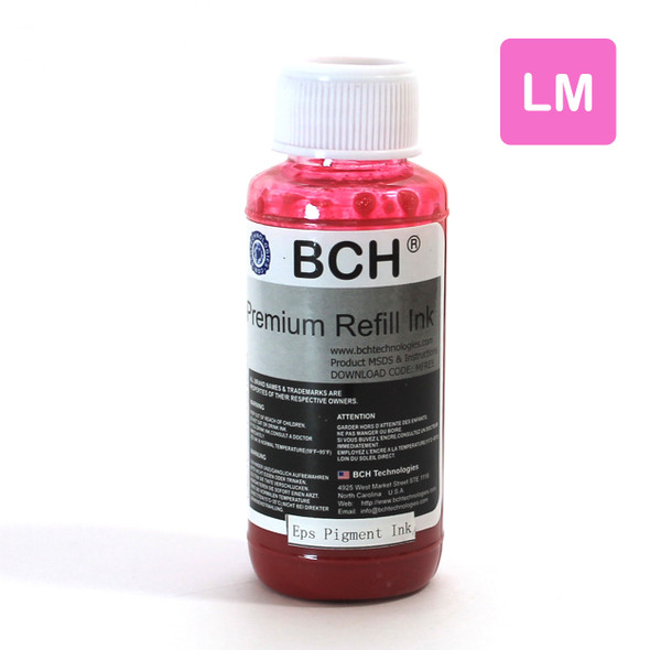 Pigment 100 ml  Light Magenta Refill Ink for Epson - DURABrite Compatible (IP100-9-AE)