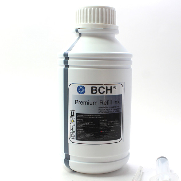 Premium Dye Ink - 500 ml Black Photo Dye Ink for HP (ID500K-AH)