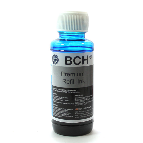 Premium Dye Ink - 100 ml Light Cyan (PC) for Canon (ID100LCAC)