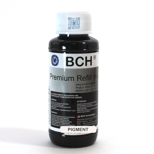 Premium Pigment Ink - 100 ml Black for HP  (IP100-4-AH)
