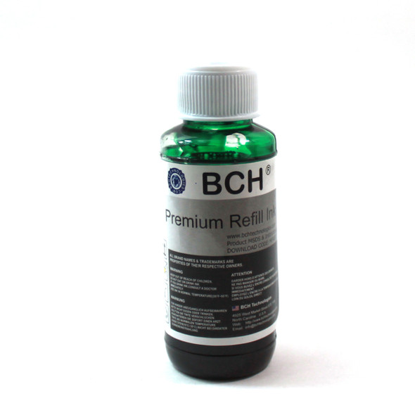 Premium Dye Ink - 100 ml Green for Canon Pro 9000 Mark II CLI-8 (ID100GREEN-AC)