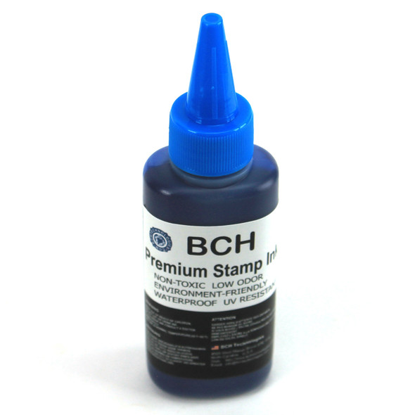 Premium Blue Water-Based Refill Ink for Self Inking Stamps Inkpad