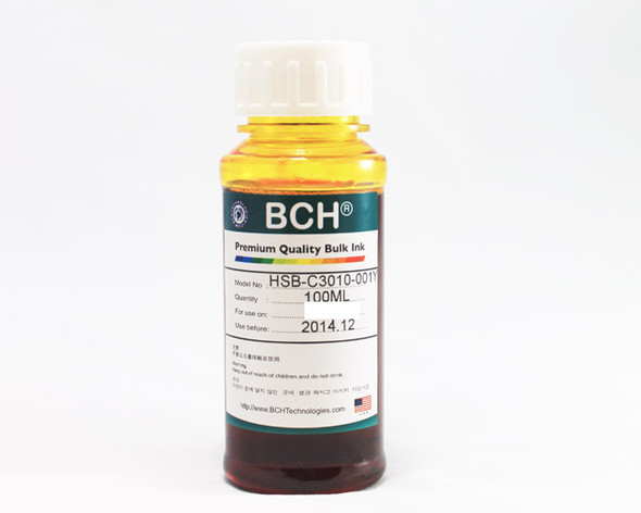 Premium Dye Ink - 100 ml Yellow for Canon (ID100Y-AC)