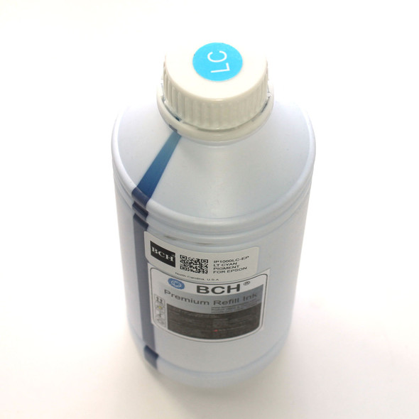 Premium 1000 ml Light Cyan Pigment Ink for Epson (IP1000LC-AE)