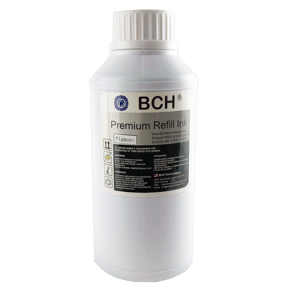 Premium Pigment Ink - 500 ml Black Refill Ink for HP(IP500K-AH)