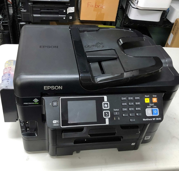 [SOLD OUT} Epson WF-3640 Sublimation Printer Bundle Pre-Installed Zero Cartridge™ CIS w ARC