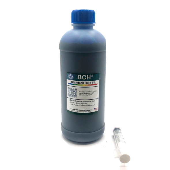 Standard Dye Ink - 500 ml Cyan Photo Dye Ink for HP (ID500C-CH)