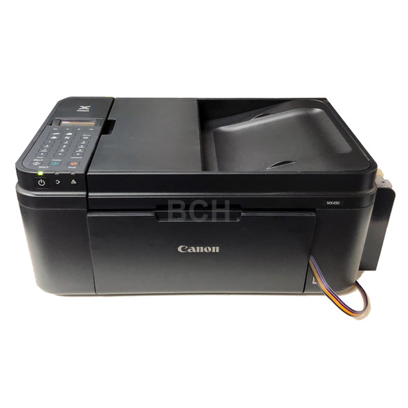 New Canon Printer with Ink System Installed: MX490 / TR4500  (45-Cartridge Equivalent, 2250 Black 7500 Color)