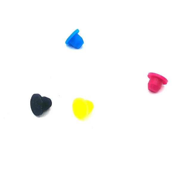 4 Color Silicone Plugs for HP & Canon Sponge/Spongeless Covers (AS-PlUG-SP4)