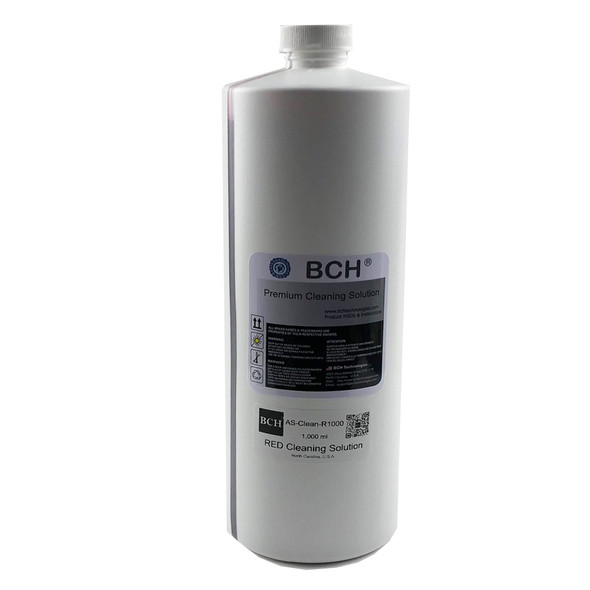 Professional Bulk (1,000 ml) RED Cleaning Solution for Water-Based Inks: Dye, Pigment, Sublimation - NOT FOR SOLVENT INK