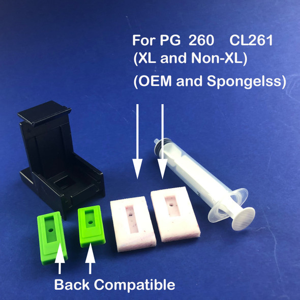 First-Timer Inkjet Printer Refill Kit for PG-260 CL-261 Cartridges (EZ30-T260)