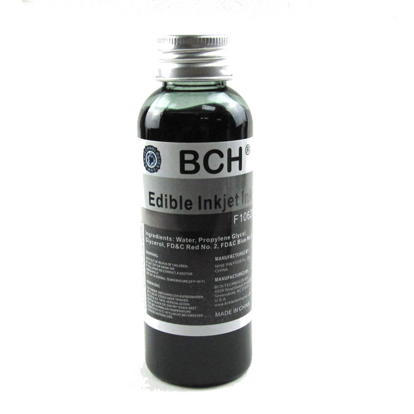 BCH F10620 Edible Ink - Black 100 ml for HP & Canon (ED100K-F10620)