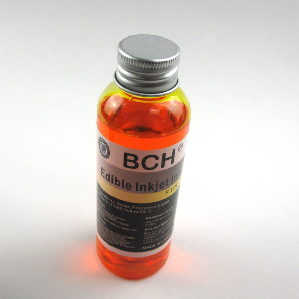 BCH F10620 Edible Ink - Yellow 100 ml for HP & Canon (ED100Y-F10620)