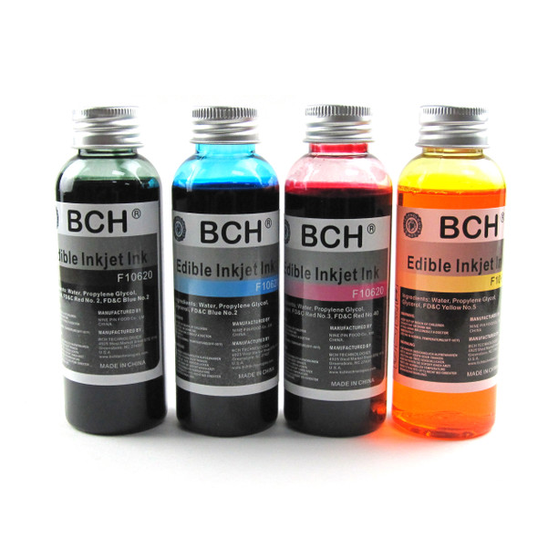 BCH F10620 Edible Ink - Bulk 4-Color Pack for HP & Canon (ED400X-F10620)