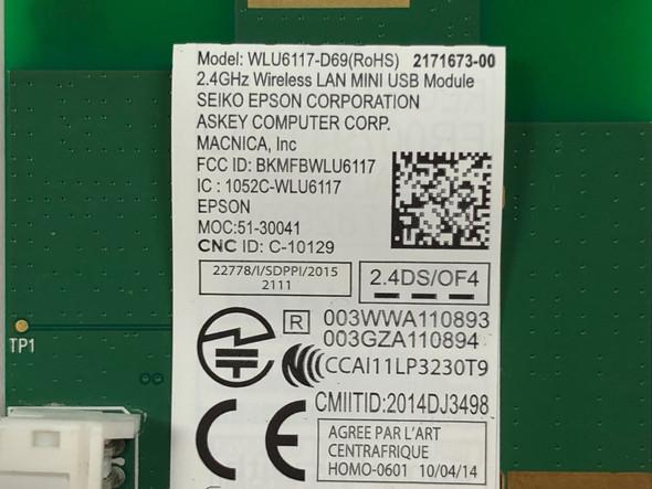 Epson WLU6117-D69 (RoHS) 2.4 GHz Wireless LAN MINI USB Module for WF-3640 WF-3620