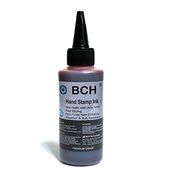 Violet Color Re-Entry Stamp Ink by BCH for Event Admittance - Skin-Safe with Aloe Vera Extract - 3 oz Violet