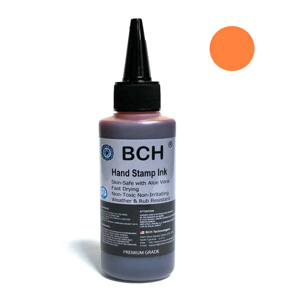Sunflower Color Re-Entry Stamp Ink by BCH for Event Admittance - Skin-Safe with Aloe Vera Extract - 3 oz Sunflower