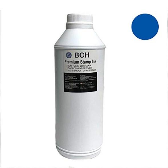 Blue Bulk 1-Liter Stamp Ink Refill for Self-Ink Pads - BCH Premium Grade -33.8 oz (1,000 ml) Ink Per Bottle