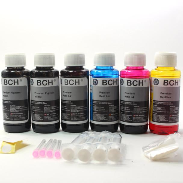 Premium 600 ml Refill Ink - (2X Pigment Black +  1x Photo Black + Photo Dye CMY)  KH600X-2PH