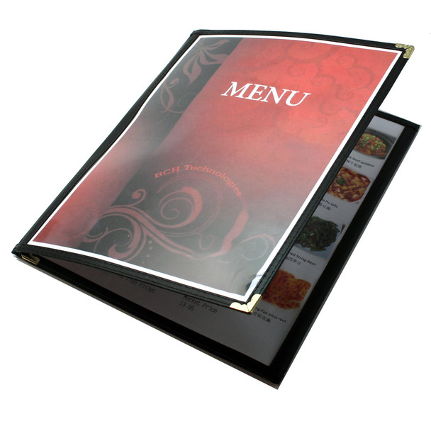 Tri-Fold Three Panel Six View Booklet Cafe Style Menu Covers