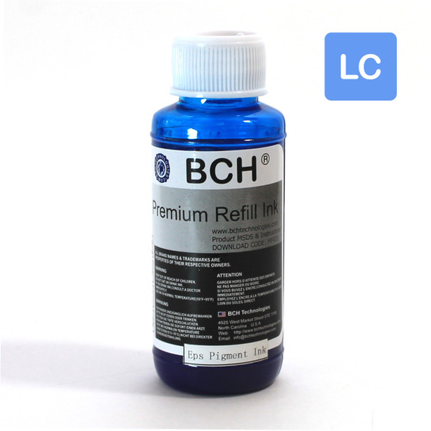 Premium 100 ml Light Cyan Sublimation Ink for Epson (IS100LC-AE)
