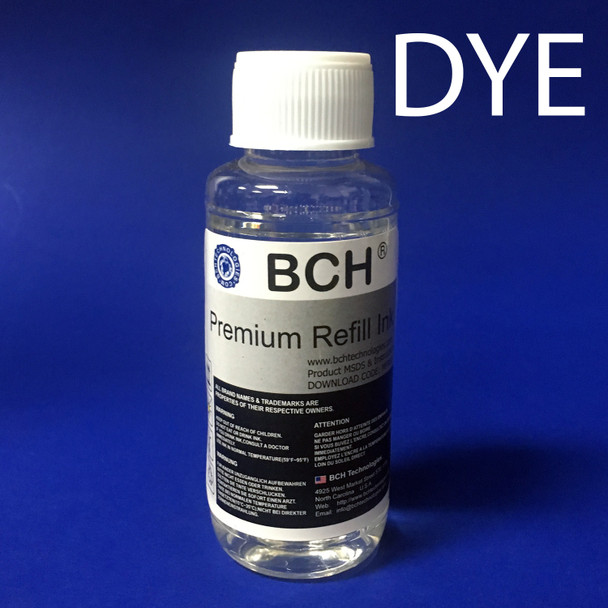 Universal Dye Ink Base Solution - Clear Transparent - Use in DYE printer ink cartridges