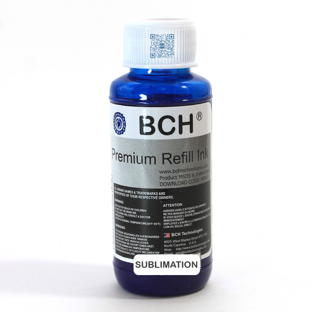 Premium 100 ml Cyan Sublimation Ink for Epson (IS100C-AE)