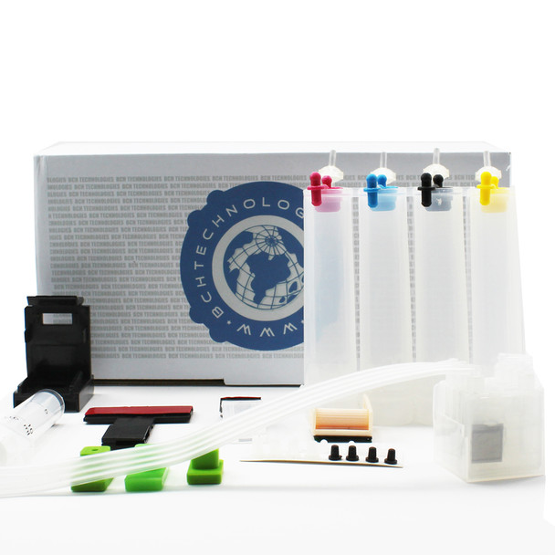 2nd Generation DIY CISS Continuous Ink Supply System Kit with Built-in One Way Ink Flow Damper - Make Your Own Automatic Ink Refill System (Empty)
