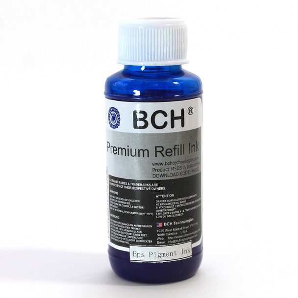 Pigment 100 ml  Cyan Refill Ink for Epson - DURABrite Compatible (IP100-5-AE)