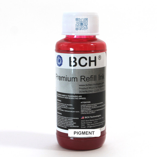 Premium Pigment Ink - 100 ml Magenta Ink for HP  (IP100-6-AH)