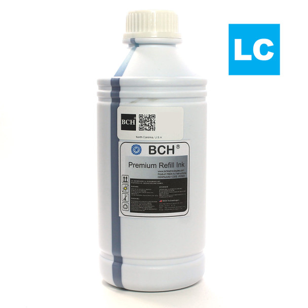 Premium 1,000 ml LIght Cyan Sublimation Ink for Epson (IS1000LC-AE)