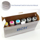 Premium Dye Ink - 100 ml x 6 Four-Color Refill Ink for Canon (KD600X-AC)