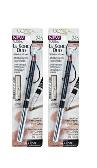 Lot Of 2 -l'oreal Le Kohl Duo Shadow And Liner, Charcoal/honey, 0.05 Ounce