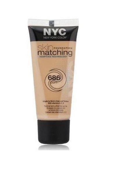 Nyc New York Color Skin Matching Foundation With Adapting Technology 686 Light