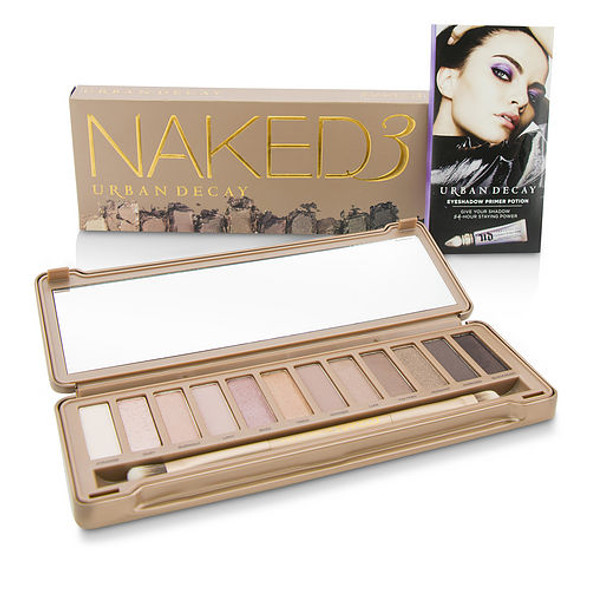 Urban Decay By Urban Decay Naked 3 Eyeshadow Palette: 12x Eyeshadow, 1x Doubled Ended Shadow/blending Brush ---