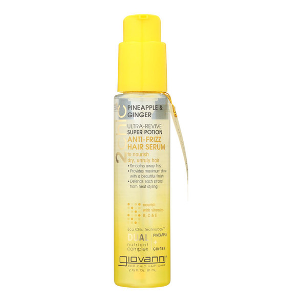 Giovanni Hair Care Products Hair Mask - Pineapple And Ginger - Case Of 1 - 2.75 Fl Oz.