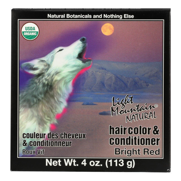 Light Mountain Hair Color - Bright Red - Case Of 1 - 4 Oz.