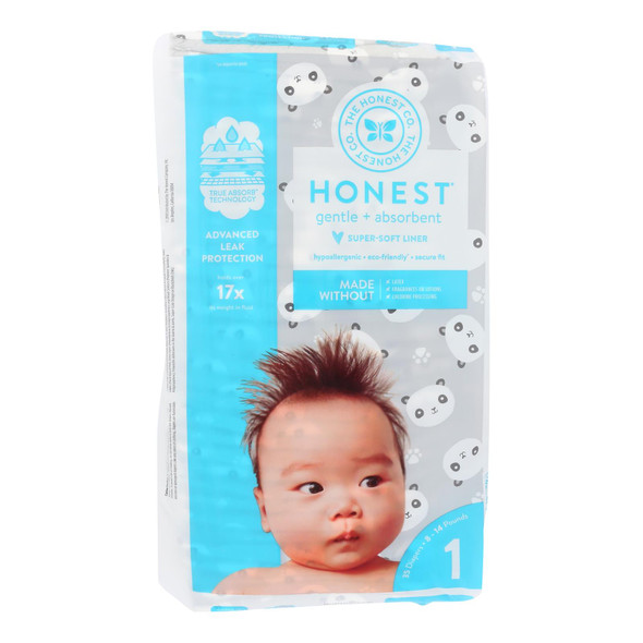 The Honest Company - Diapers Pandas Size 1 - 35 Ct