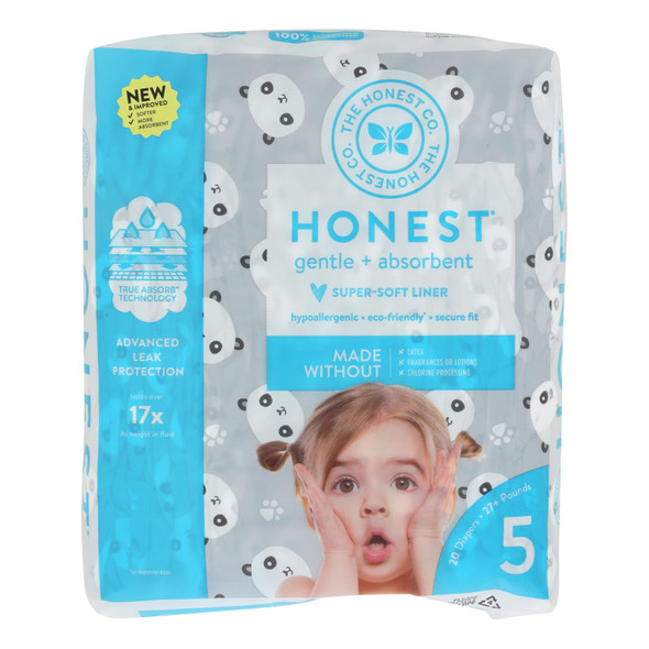 The Honest Company - Diapers Size 5 - Pandas - 20 Count - DB45463279