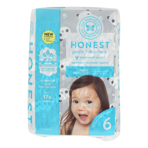 The Honest Company - Diapers Size 6 - Pandas - 18 Count