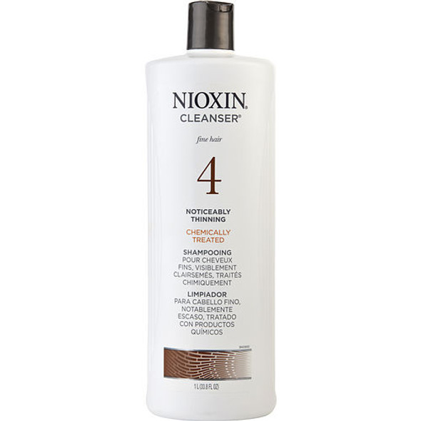 Nioxin By Nioxin System 4 Cleanser For Fine Chemically Enhanced Noticeably Thinning Hair Color Safe 33.8 Oz