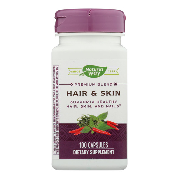 Nature's Way - Hair And Skin With Msm And Glucosamine - 100 Capsules