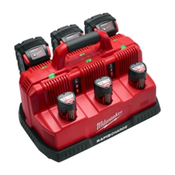 M12/m18 6-port Sequential Rapid Battery Charger Only 12/18v Lith-ion Multi-volt; 3 M12 And 3 M18 Ports (battery Not Incl.)